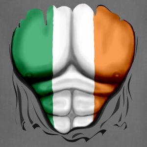 Ireland Flag Ripped Muscles, six pack, chest t-shirt - Adjustable Apron