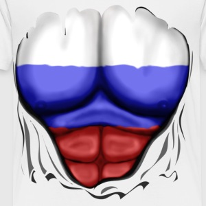 Russia Flag Ripped Muscles, six pack, chest t-shirt - Toddler Premium T-Shirt