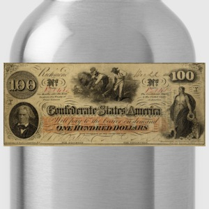 100 Dollars 1862, CSA, Civi War, eushirt.com T-Shirts - Water Bottle