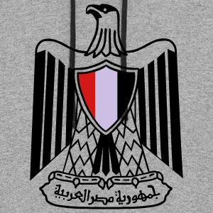 Coat of Arms - Egypt Long Sleeve Shirts - Colorblock Hoodie