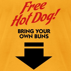 Free Hot Dog (2c) Bags  - Men's T-Shirt by American Apparel
