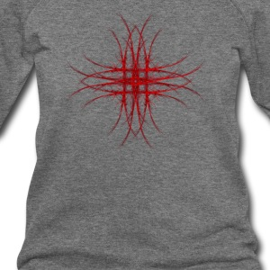 The Red Fractal Geometry Art T-Shirts - Women's Wideneck Sweatshirt
