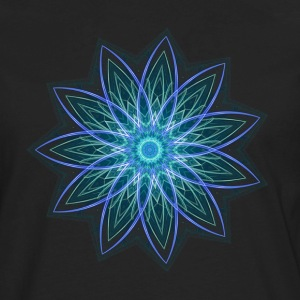 Fractal Flower Blue Geometric Art Women's T-Shir - Men's Premium Long Sleeve T-Shirt