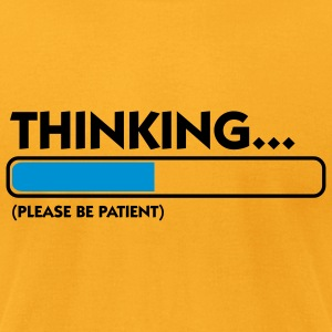 Thinking Patient (2c) Bags  - Men's T-Shirt by American Apparel