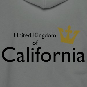 United Kingdom of California T-Shirts - Unisex Fleece Zip Hoodie by American Apparel