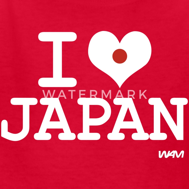 I love JAPAN - flag Kids' Shirts - Kids' T-Shirt