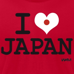 I love JAPAN - flag Hoodies - Men's T-Shirt by American Apparel