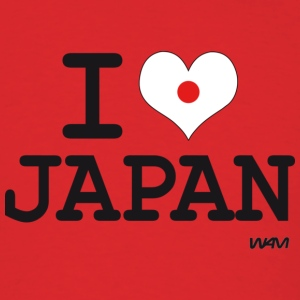 I love JAPAN - flag Hoodies - Men's T-Shirt