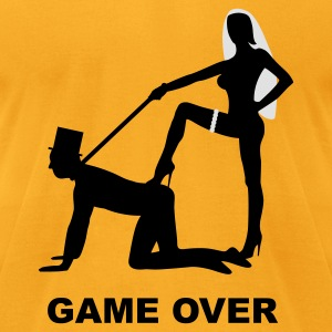 game over marriage matrimory wedlock fog haze double heiht heyday nuptials wedding zenith dominatrix lash whip slave bondman sex Bags  - Men's T-Shirt by American Apparel