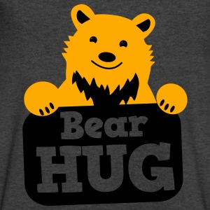 bear hug cute grizzly bears Long Sleeve Shirts - Men's V-Neck T-Shirt by Canvas
