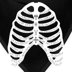 Black with white ribs, mens - Bandana