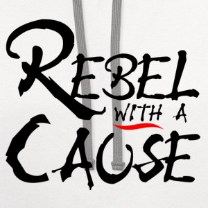 Rebel with a Cause - Contrast Hoodie
