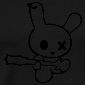 Rockin bunny rockstar music bunnies rabbit hare cony leveret bimbo easter guitar bass sound earring Sweatshirts - Men's Premium T-Shirt