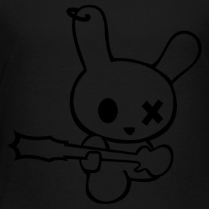 Rockin bunny rockstar music bunnies rabbit hare cony leveret bimbo easter guitar bass sound earring Sweatshirts - Toddler Premium T-Shirt