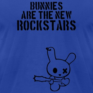 Rockstar bunny bunnies hare rabbit rock music cony leveret bimbo guitar grunge bass sound easter earring Tanks - Men's T-Shirt by American Apparel