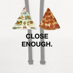 Pizza, Close Enough. T-Shirts - Contrast Hoodie