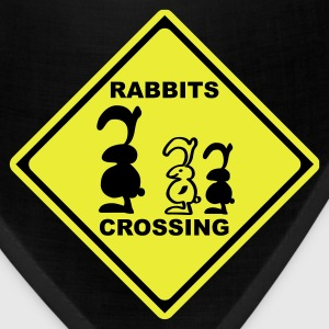 rabbits crossing sign traffic bunny rabbit bunnies hare cony leveret bimbo Bags  - Bandana