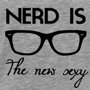 Nerd is the new Sexy Long Sleeve Shirts - Men's Premium T-Shirt