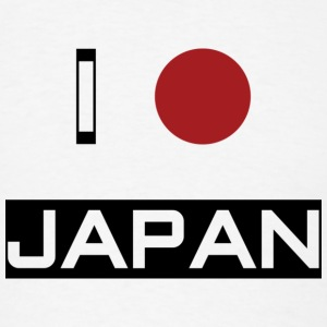 I Love Japan Buttons - Men's T-Shirt