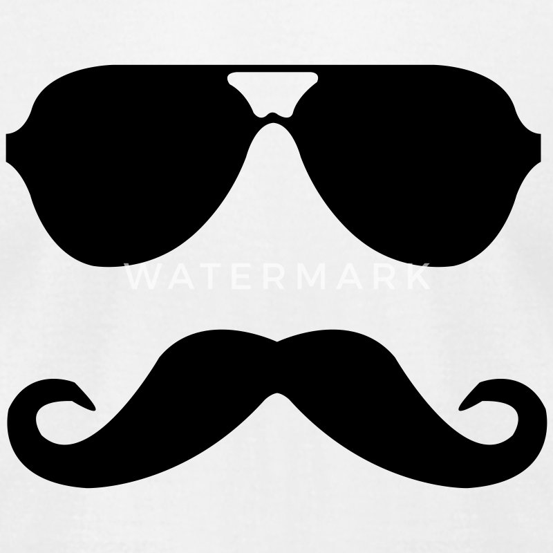 mustache and glasses T-Shirts - Men's T-Shirt by American Apparel