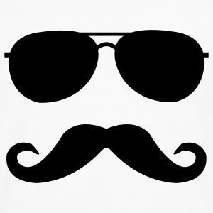 mustache and glasses Kids' Shirts - Men's Premium Long Sleeve T-Shirt
