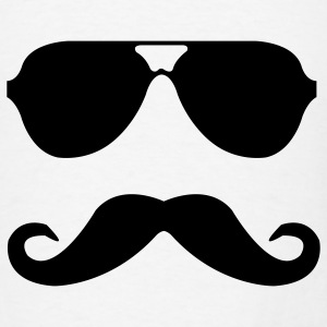 mustache and glasses Baby Bodysuits - Men's T-Shirt