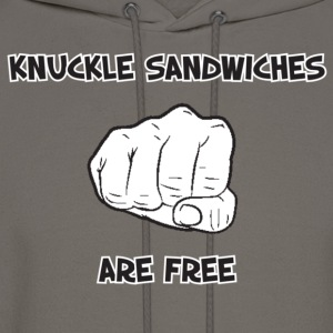 Cool Saying (Knuckle Sandwiches Are Free) - Men's Hoodie