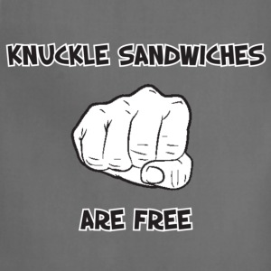 Cool Saying (Knuckle Sandwiches Are Free) - Adjustable Apron