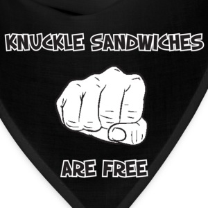 Cool Saying (Knuckle Sandwiches Are Free) - Bandana