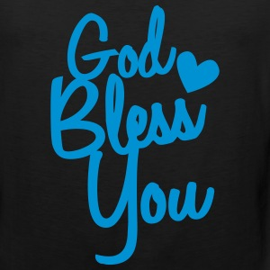 god bless you Long Sleeve Shirts - Men's Premium Tank