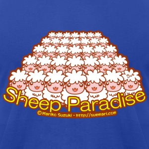 Sheep Paradise Hoodies - Men's T-Shirt by American Apparel