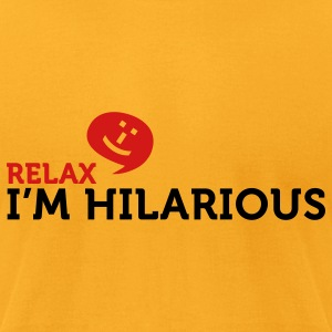 Relax Im Hilarious (2c) Bags  - Men's T-Shirt by American Apparel