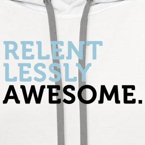 Relentlessly Awesome 2 (2c) Women's T-Shirts - Contrast Hoodie