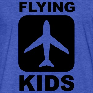 Flying Kids Sweatshirts - Fitted Cotton/Poly T-Shirt by Next Level