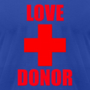 Love Donor Hoodies - Men's T-Shirt by American Apparel