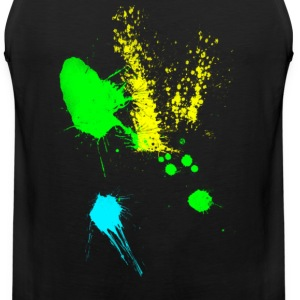 colorful paint splatter T-Shirts - Men's Premium Tank
