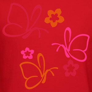 BUTTERFLIES triple | female american apparel slim  - Crewneck Sweatshirt