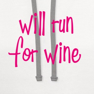 will run for wine Tanks - Contrast Hoodie