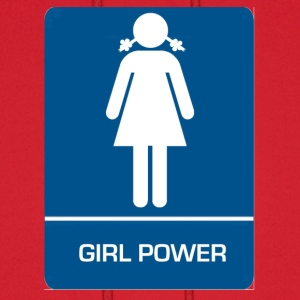 Girl power restroom T shirt - Men's Hoodie
