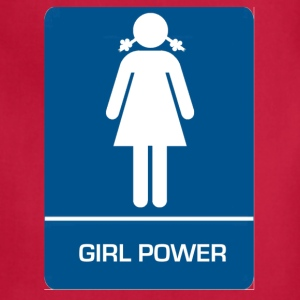 Girl power restroom T shirt - Adjustable Apron
