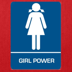Girl power restroom T shirt - Tote Bag