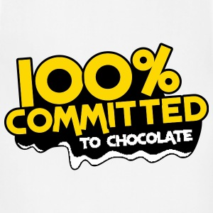 100 percent committed to chocolate T-Shirts - Adjustable Apron