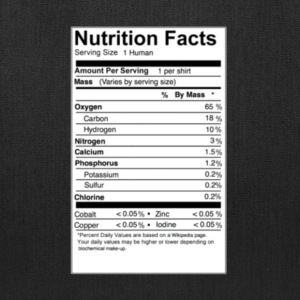human_nutritional_facts T-Shirts - Tote Bag