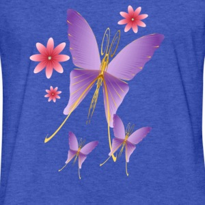 Soft Purple Butterfly - Fitted Cotton/Poly T-Shirt by Next Level