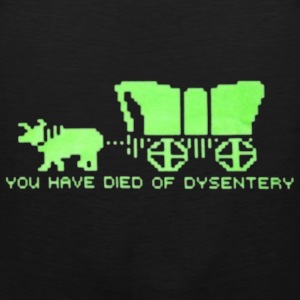 dysentery (for dark bkg) T-Shirts - Men's Premium Tank