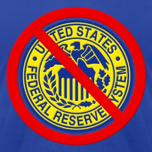 No Federal Reserve Hoodies - Men's T-Shirt by American Apparel