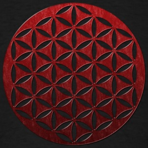 FLOWER OF LIFE | red glass punched | men's long sl - Men's T-Shirt