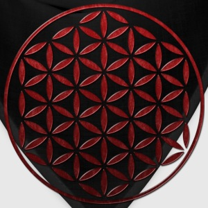 FLOWER OF LIFE - red glass stamp | men's AA tee - Bandana