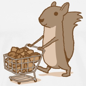 Squirrel Grocery Shopping Hoodie - Men's Premium T-Shirt