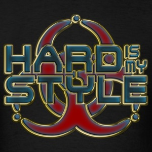 HARD IS MY STYLE - golden outline | men's long sle - Men's T-Shirt